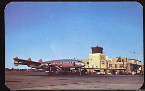 Aviation Airplane Wier Cook Airport Indianapolis Ind. TWA Constellation