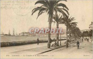 Postcard Old Cannes Croisette and Mont Chevalier Velo Cycle