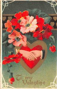 Valentines Day Post Card Old Vintage Antique Postcard 1912