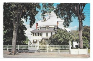 NH Portsmouth Governor John Langhorn Early American House Vintage Postcard