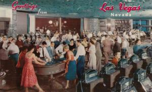 LAS VEGAS , Nevada , 1940-50s ; Interior , Hotel Flamingo Casino
