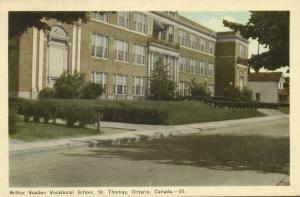 canada, St THOMAS, Ontario, Arthur Vocational School (1940s) Stamp