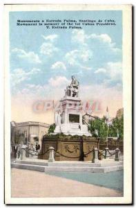 Old Postcard Cuba Monumento a Estrada Palma Santiago de Cuba