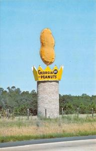 Ashburn Georgia~Roadside Giant Peanut Monument~No 1~Interstate 75~1960s Postcard