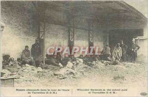 COPY Wounded Germans in the courtyard of the school Varreddes S M Ile de Fran...