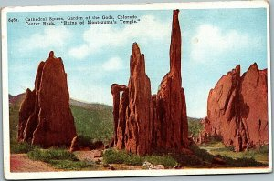 Postcard CO - Cathedral Spires Garden of the Gods Montezuma c1918 MrSTUFF B2/21