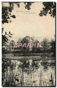 Old Postcard Bleneau L & # 39Etang Du Coudray