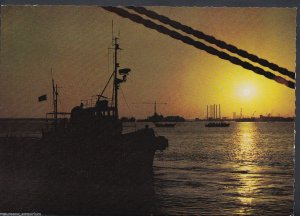 Bahrain Postcard - Sunset at Mina Sulman, Manama   RR677