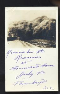 RPPC LIBERAL KANSAS DUST STORM APPROACHING 1935 VINTAGE REAL PHOTO POSTCARD