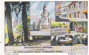 Liebig Trade Card Picturesque Portugal No 3 Lisbon