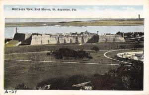 St Augustine Florida~Fort Marion Panorama~Birds Eye View~1920s Postcard