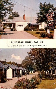 New York Niagara Falls Blue Star Motel Cabins 1958