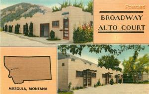 MT, Missoula, Montana, Broadway Auto Court, Multi View, E.B. Thomas No. E-12544