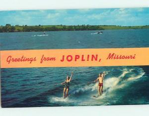 Pre-1980 Waterskiing WATERSKIING - GREETINGS FROM Joplin Missouri MO hn3391-22