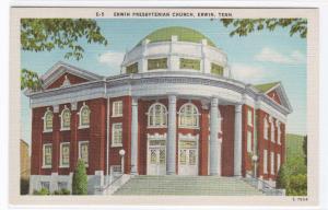 Presbyterian Church Erwin Tennessee linen postcard