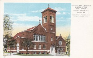 READING, Pennsylvania, 1910-30s; Evangelical Lutheran Church of the Holy Spirit