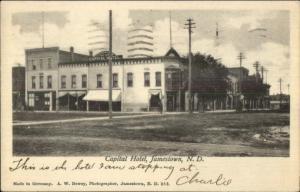 Jamestown ND Capital Hotel c1910 Postcard