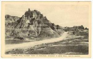 Vampire Peak, Badlands, Highway 16, Wall, South Dakota 20-40s
