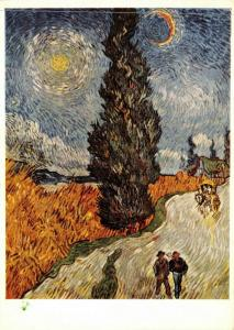Art Postcard, Road with Cypress and Star (1890) by Vincent Van Gogh 72Q