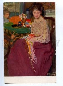202707 SAD Young BELLE by PROTTI old ART NOUVEAU Vintage PC