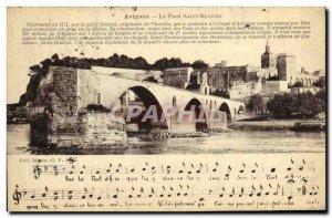 Old Postcard Avignon Pont d'Avignon