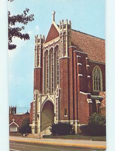 Unused Pre-1980 CHURCH SCENE Zanesville Ohio OH hs7208
