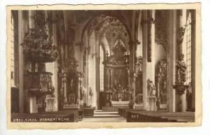 RP  Hall, Tirol Pfarrkirche, interior, Austria, 1910s