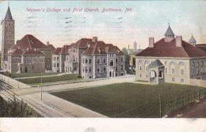 Women's College & First Church, BALTIMORE, Maryland 1907