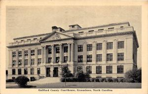 11616  NC Greensboro  1940's  Guilford County Courthouse