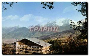 Postcard Modern Combloux Mont Blance Chamonix Needles