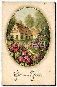 Fancy Old Postcard Bonne Fete