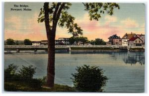 1942 The Bridge, Newport, Maine Postcard