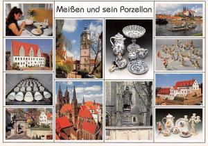 Meissen und sein Porzellan multiviews Dom Cathedral Statue River Boat Schiff
