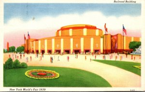 New York World's Fair 1939 The Railroad Building 1940