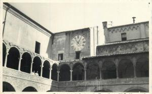 Italy vintage animated real photo postcard place clock to identify Belluno ?