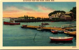 Massachusetts Marion Waterfront From Town Wharf