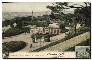 Postcard Old Marseille Garden Column