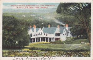 Groot Schuur Rondenbosch, The Residence Of The Late Cecil John Rhodes, South ...