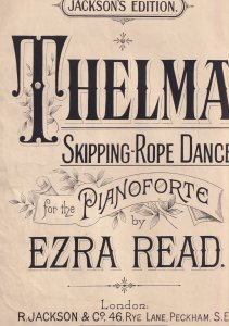 Thelma Skipping Rope Dance Folded Irish Ballad Sheet Music
