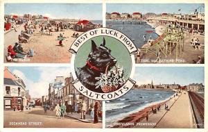 Scotland, UK Old Vintage Antique Post Card The Beach, Tidal Sea Bathing Pond ...