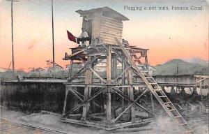 Flagging a dirt Train Panama Canal Panama Unused