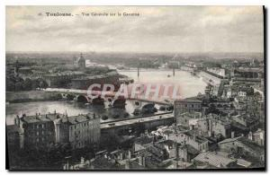 Postcard Old Toulouse General view of the Garonne