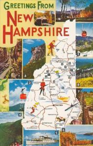New Hampshire Greetings From Map Of New Hampshire 1963
