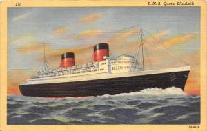 R. M.S. Queen Elizabeth  Cunard-White Star Line