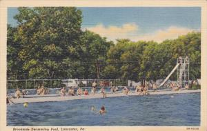 LANCASTER, Pennsylvania, 1930-1940's; Brookside Swimming Pool