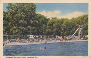 LANCASTER, Pennsylvania, 1930-1940's; Brookside Swimming Pool