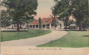 KANSAS CITY Missouri / COUNTRY CLUB + DRIVEWAY / 1908 view / GOLF