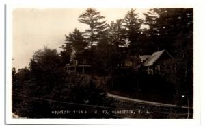 RPPC Mountain View House, North Woodstock, NH Real Photo Postcard