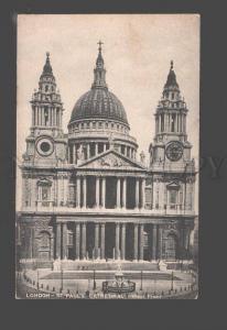 092277 UK London St.Paul's Cathedral West front Vintage PC