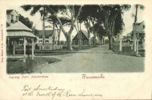 suriname, PARAMARIBO, Entrance Fort Amsterdam (1899)